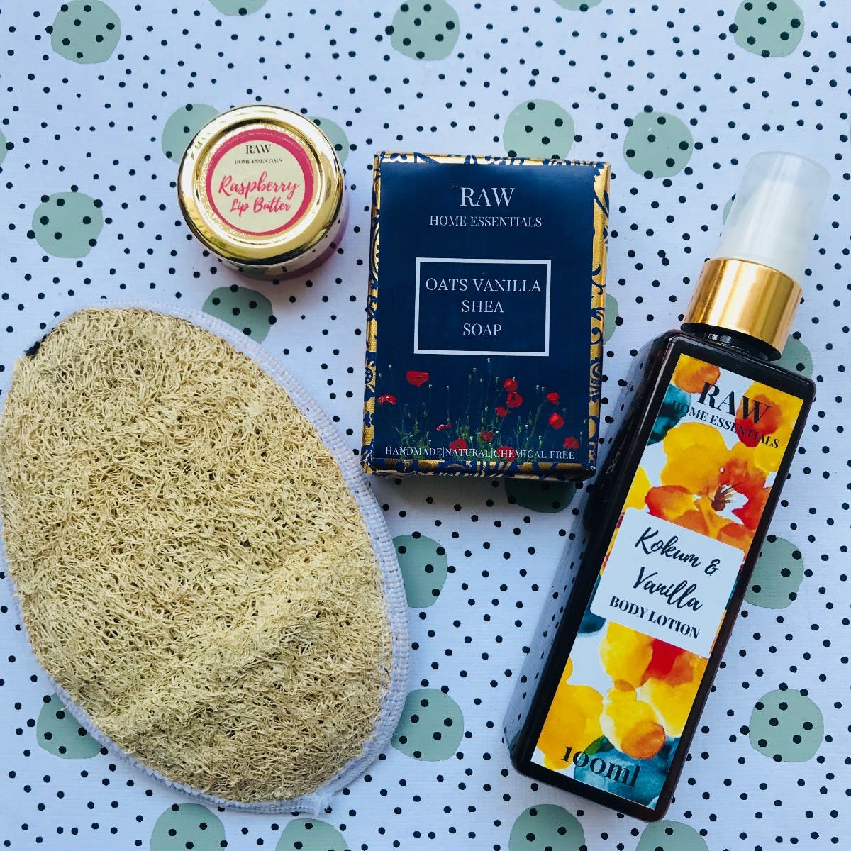 Body Glow Pack: Soap, Lotion, Loofah & Lip Butter